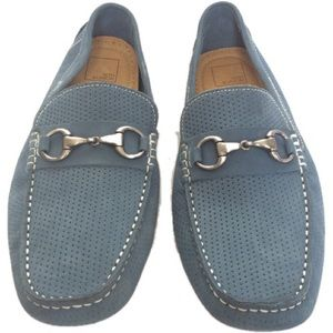 14th & Union Blue Leather Loafers